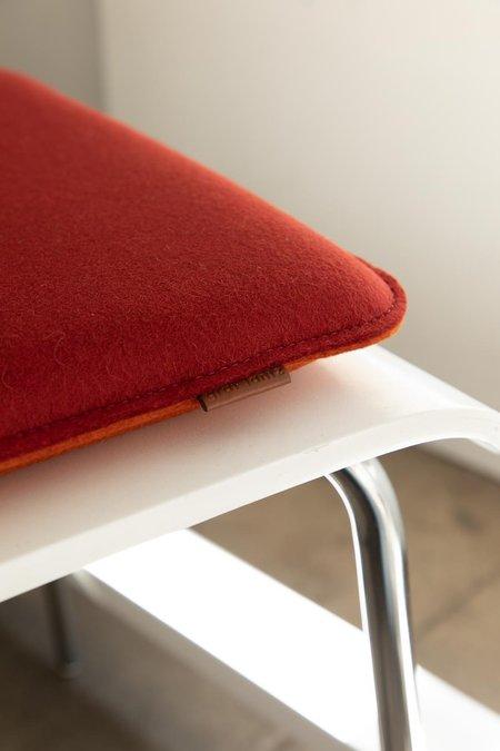 Graf Lantz Zabuton Square Felt Seat Pad - Sage/Natural
