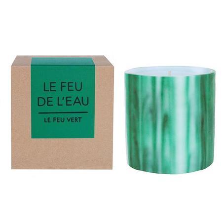 Le Feu De L'Eau Le Feu Vert  Fig Leaf candle