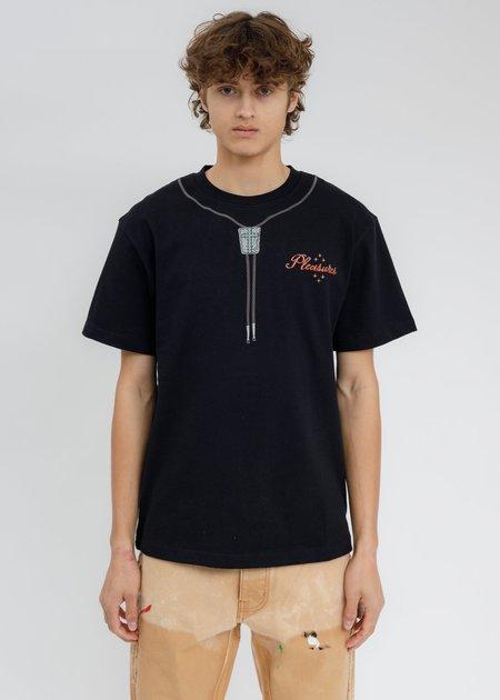 PLEASURES Bolo Heavyweight T-Shirt - BLACK