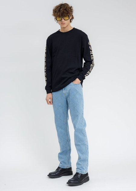 PLEASURES Old E Heavyweight Long Sleeves - BLACK