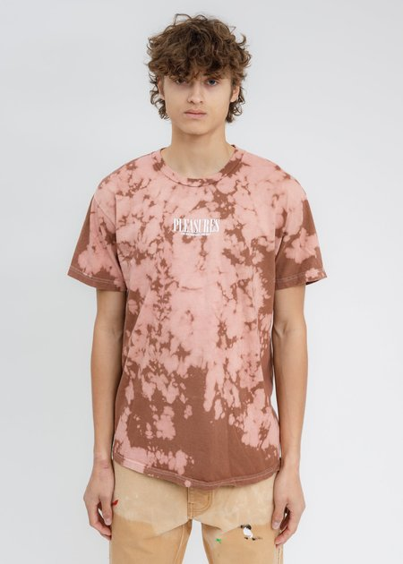 PLEASURES Dyed Trip T-Shirt - BROWN