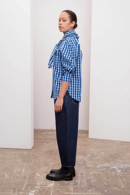 Kowtow Calder Shirt - blue/white check