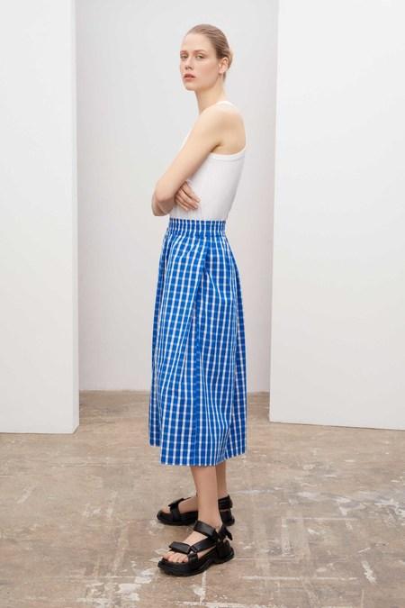 Kowtow Culottes PANTS - blue/white check