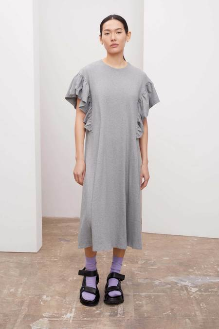Kowtow Frill Dress - grey marle
