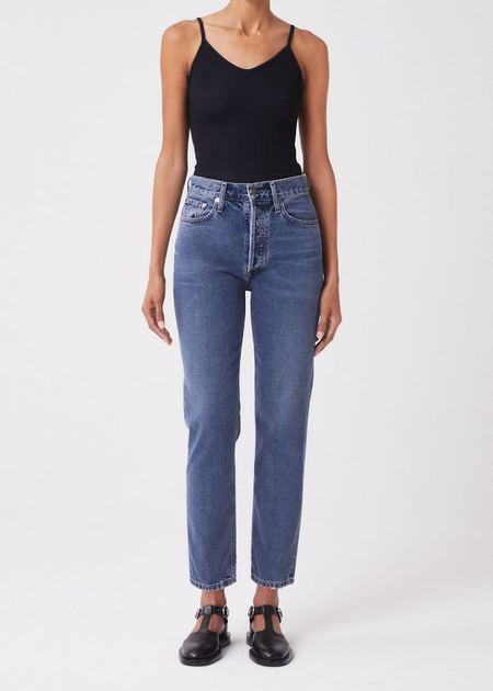 AGOLDE  fen high rise relaxed tapered jean - highway