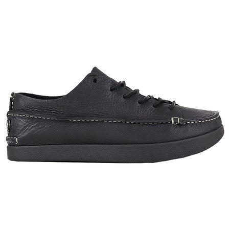 YOGI Finn Leather Shoe On Negative Heel - Black