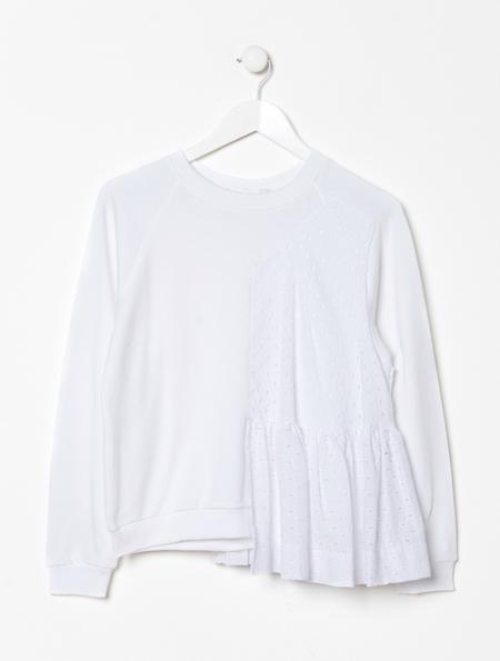 Peter Jensen Frill Panel Sweatshirt