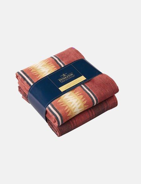 Pendleton Cotton Throw Gift Pack (Set of 2) - Thunder Basket Red