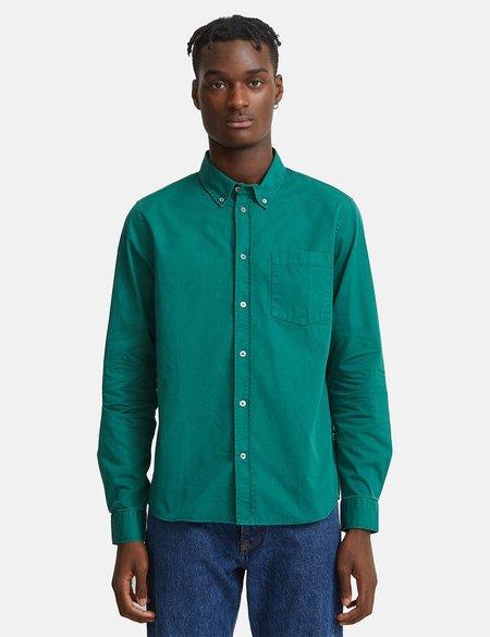 Wood Wood Andrew Classic Denim Shirt - Green