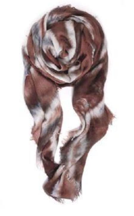 Fig & Belle Double Knot Scarf - Bronze/Chocolate