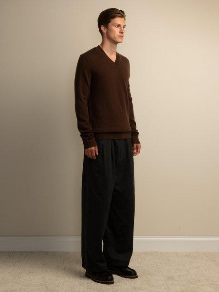PURECASHMERE NYC V Neck Sweater - Brown