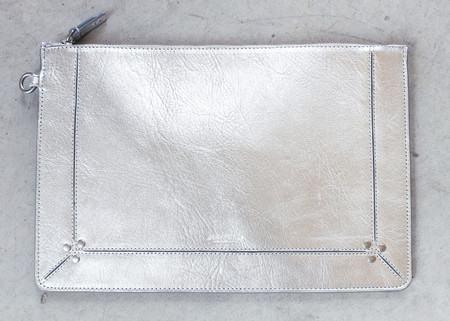 Jerome Dreyfuss Large Popoche in Silver Goatskin