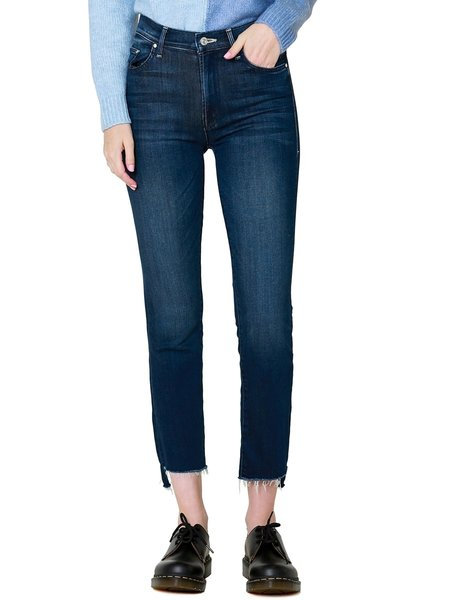MOTHER Denim The Insider Crop Step Fray DENIM - Tongue And Chic