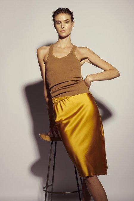 KES Bias Asymmetric Slit Skirt - Aurum