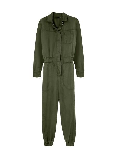 KES Fortuna Organic Cotton Twill Jumpsuit - Military