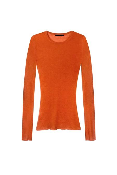 KES Superfine Cashmere Crewneck - Burnt Orange