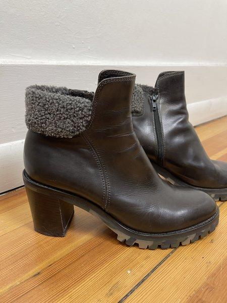 [PRE-LOVED] AGL Heeled Shearling Booties -Black