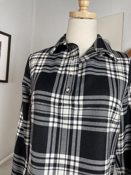 Geysir Black Wool Plaid Dress -Prints