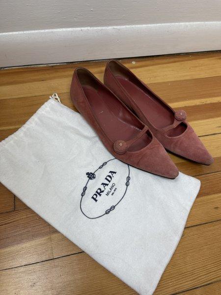 [PRE-LOVED] Prada Pointed Toe Flat -Pink