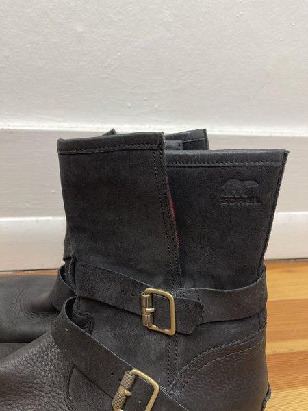 [PRE-LOVED] Sorel Black Leather Engineer Boot -Black