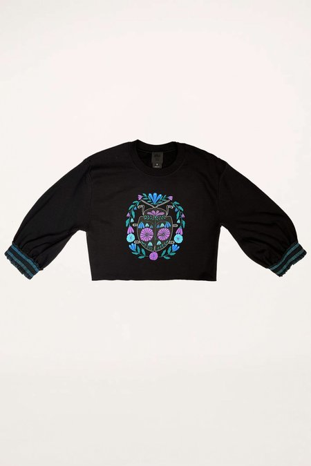 Trimmed Beetle Sweatshirt - Cornflower