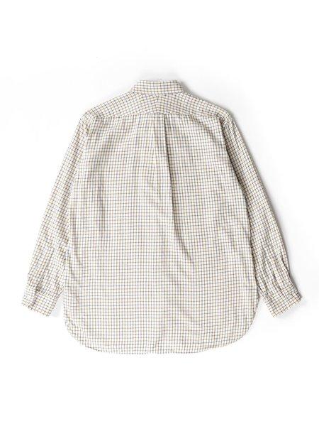 Engineered Garments Cotton 19 Century Shirt - Ivory Tattersall
