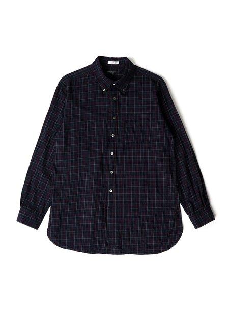 Engineered Garments Cotton Tattersall 19 Century Shirt - Navy