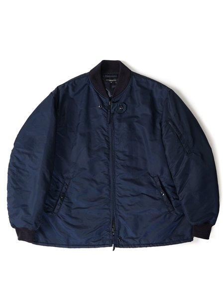 Engineered Garments  Flight Satin Nylon Aviator Jacket - Navy