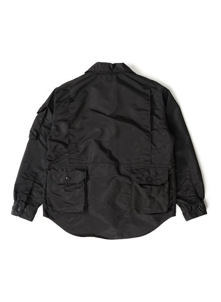 Engineered Garments Flight Satin Nylon Explorer Shirt Jacket - Black