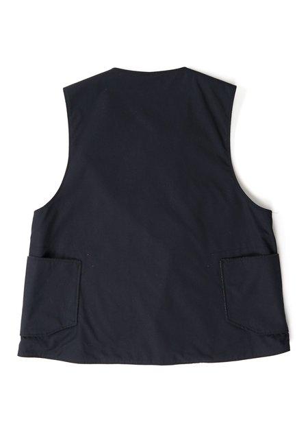 Engineered Garments PC Poplin Over Vest - Dark Navy