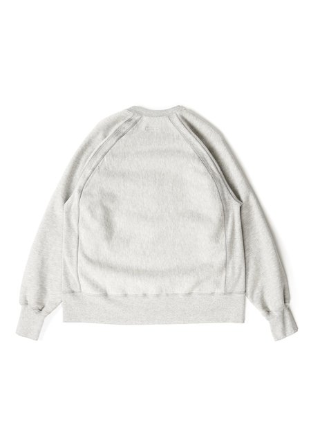 Engineered Garments CP Heavy Fleece Raglan Crew - Heather Grey