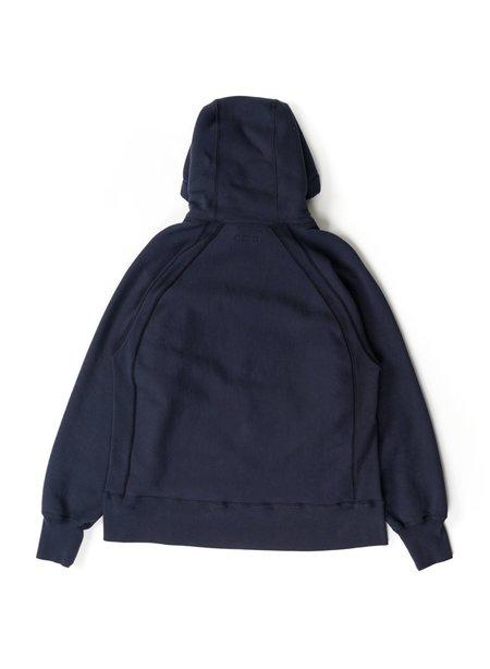 Engineered Garments Cotton Heavy Fleece Raglan Hoody - Navy
