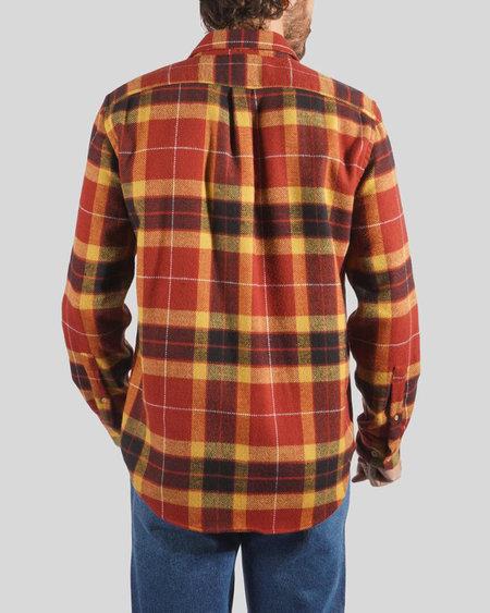Portuguese Flannel Baviera Check Long Sleeve Shirt - Rust