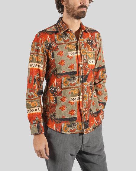 Portuguese Flannel Corduroy Long Sleeve Shirt - Fall Shades