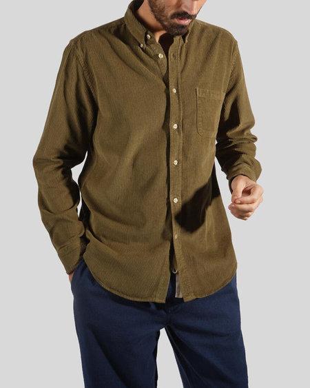Portuguese Flannel Corduroy Lobo Shirt - Olive