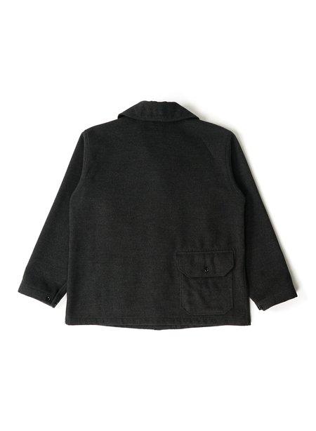 Engineered Garments Polyester Fake Melton Shawl Collar Jacket - Charcoal