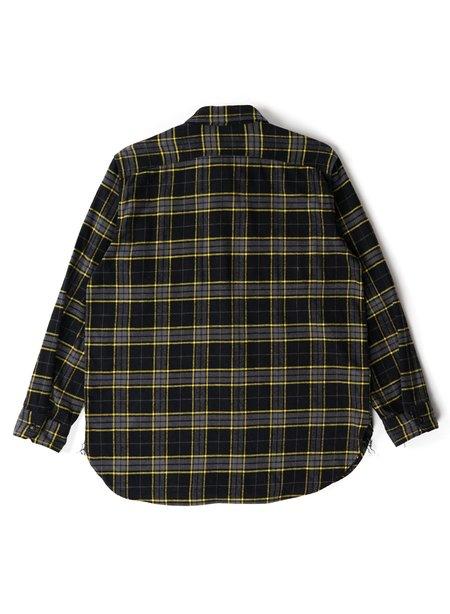 Engineered Garments Cotton Twill Plaid Work Shirt - Black/Yellow