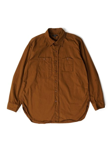 Engineered Garments Cotton Micro Sanded Twill Work Shirt - Brown