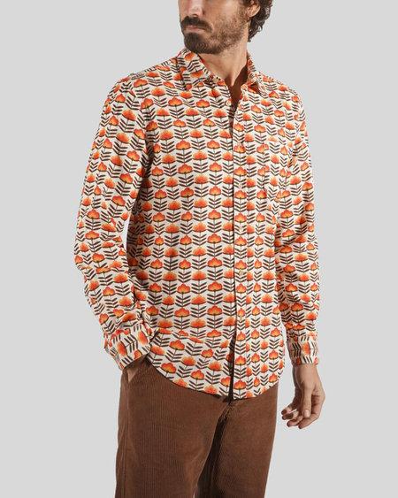 Portuguese Flannel Rise Corduroy Long Sleeve Shirt - Warm Floral