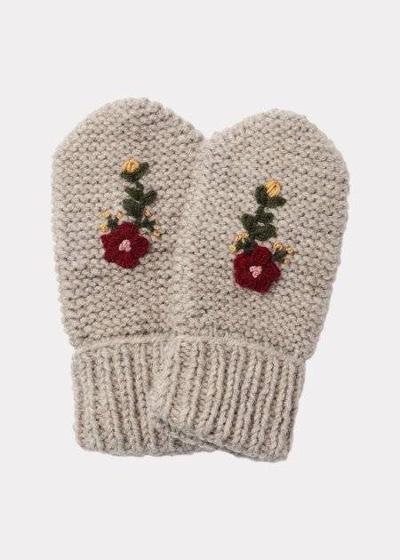 Kids Caramel Arche Child Mittons -  Taupe