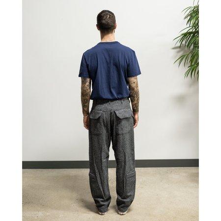 Engineere Garments Aircrew Pant - Grey Poly Wool Herringboned