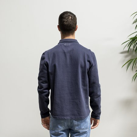 Knickerbocker Compact Knit Quarter Zip Shirt - Dark Navy