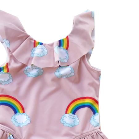 Kids Romey Loves Lulu Ruffle Swimsuit - Rainbow