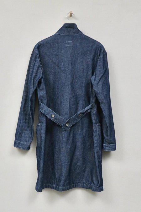 Uqnatu Lab Coat - Indigo Herringbone