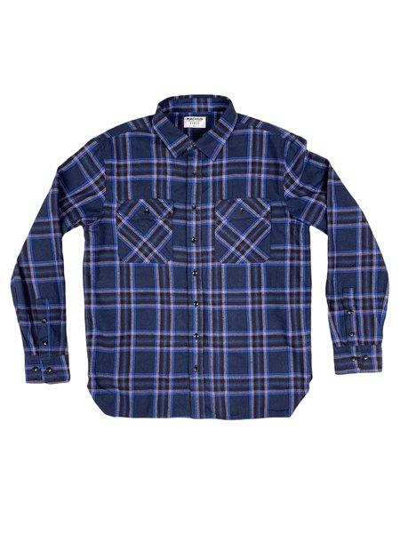 Machus Light Flannel Shirt - Vintage Blue