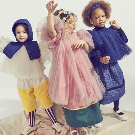 Kids Tia Cibani Child Down Hood  - Licorice Blue