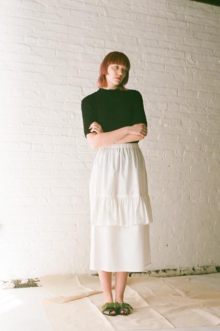 Rowena Sartin Single Double Skirt in White