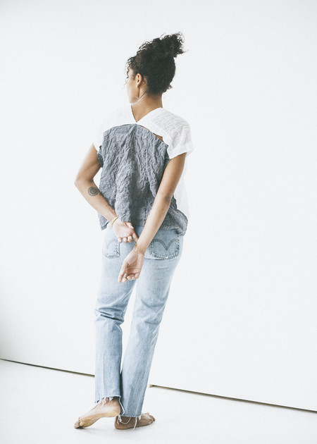Atelier Delphine - Celeste Top in White/Graphite