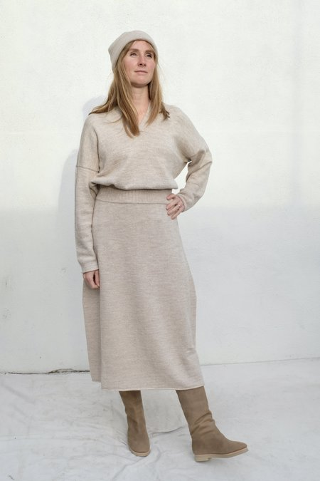 Lauren Manoogian Midi Skirt - Oak Slub
