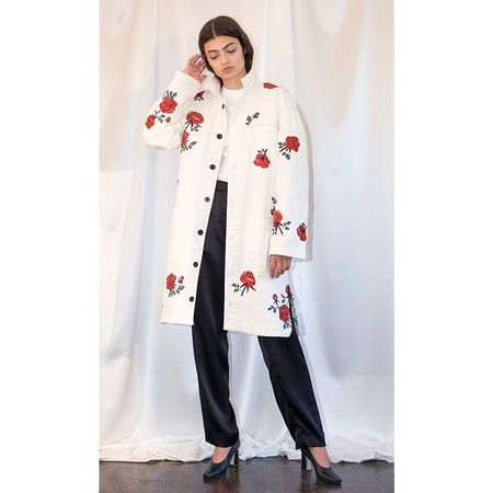 Pari Desai Rose Embroidered Coat